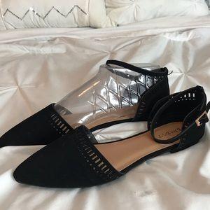 NWT Black Pointy Toe Flats